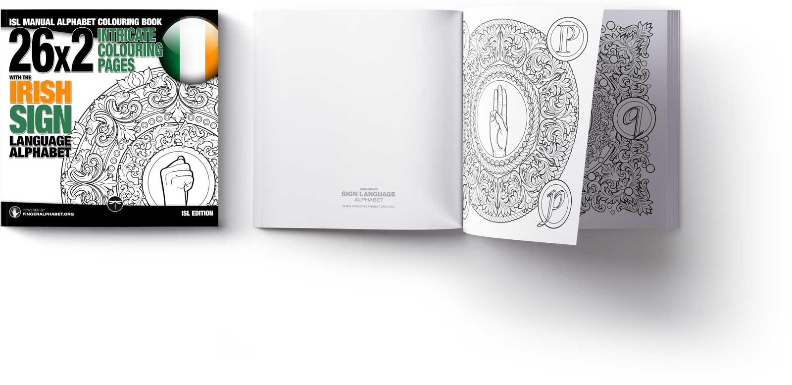 ISL Alphabet Colouring Book