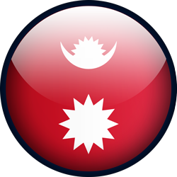 Flag of Nepal button by Lassal