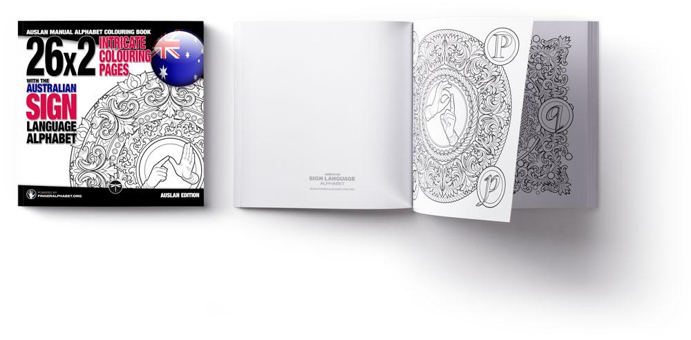 AUSLAN Alphabet Coloring Book by Project FingerAlphabet